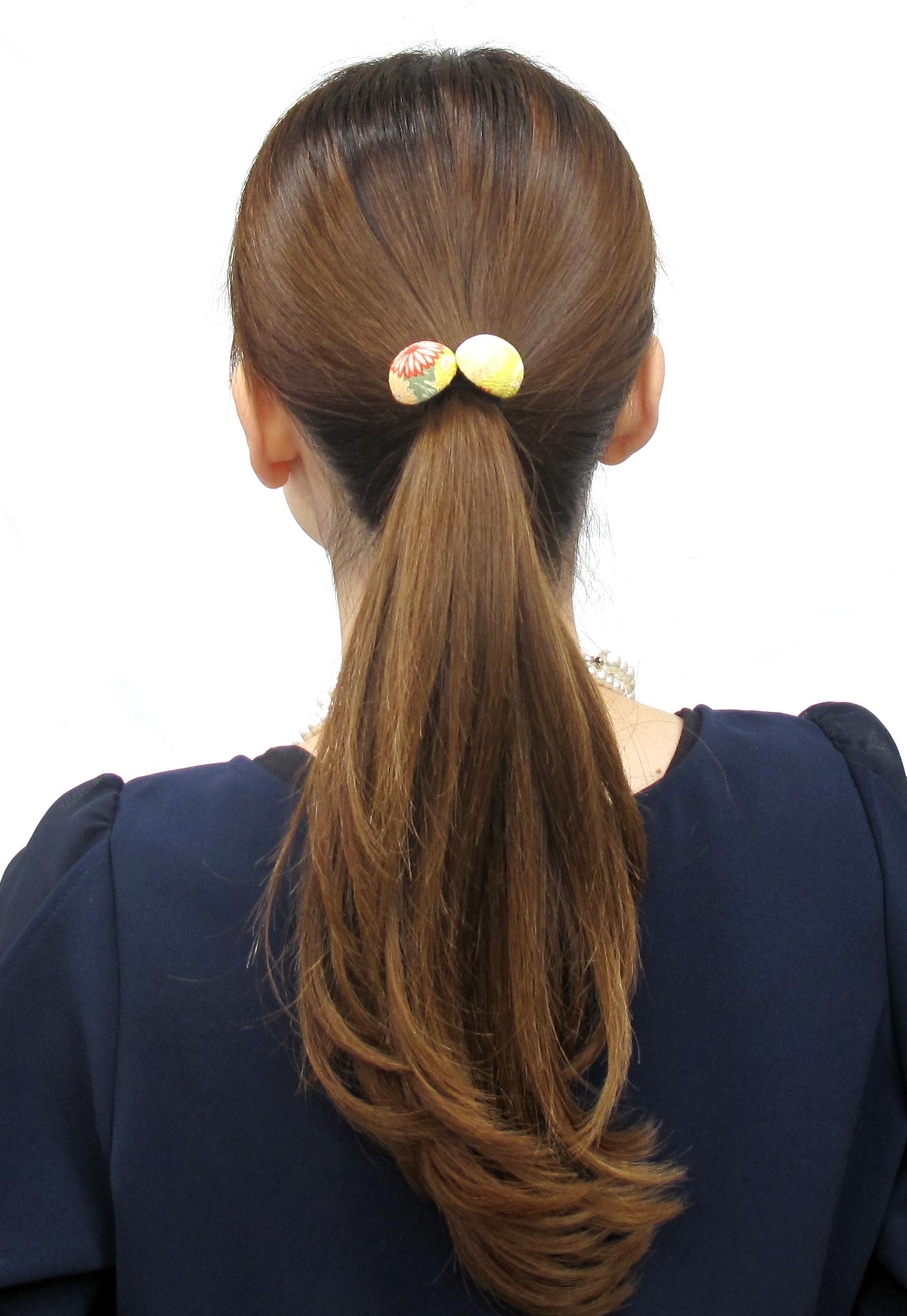 elastique cheveux bouton japon tendance. Black Bedroom Furniture Sets. Home Design Ideas