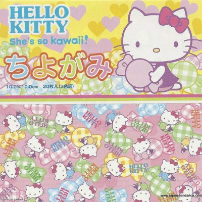 Petits papiers origami Hello Kitty